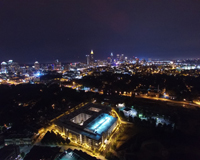 Nightime Aerial Imaging of the City of Atlanta