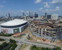 Georgia Dome and the New Atlanta Falcons Stadium Progress