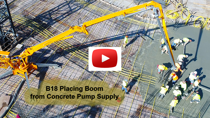 B18 PLACING BOOM FROM CONCRETE PUMP SUPPY